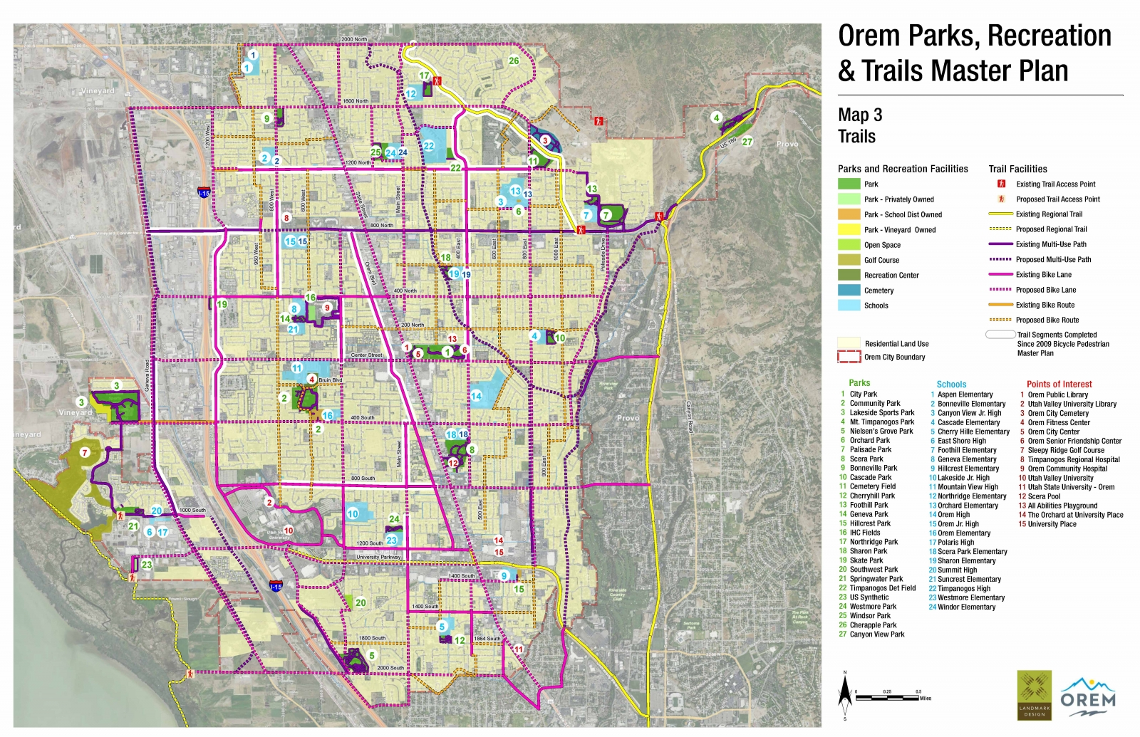 Parks, Recreation, Trails & Open Space Master Plans